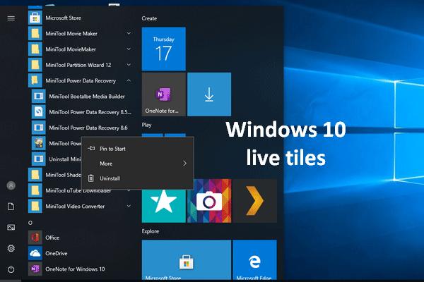 Kuidas Windows 10 Live-plaate maksimaalselt ära kasutada [MiniTooli uudised]