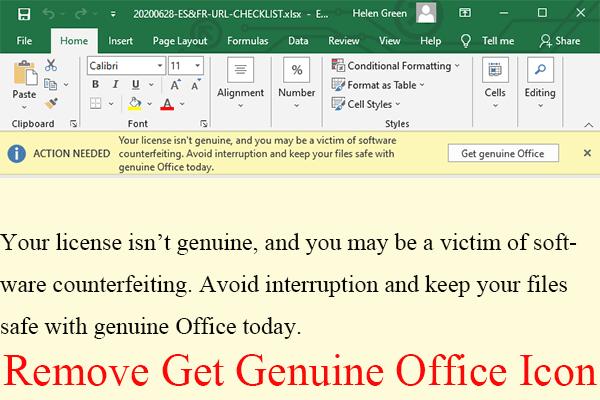[6 Yol + 3 Düzeltme] Orijinal Office Banner'ı Nasıl Kaldırılır? [MiniAraç Haberleri]