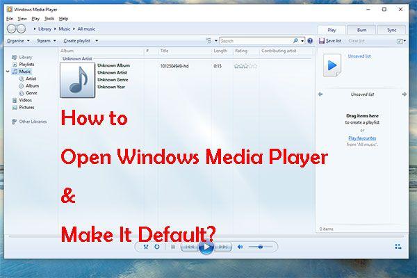 Kuidas Windows Media Playerit avada ja vaikeseadeks muuta? [MiniTooli uudised]