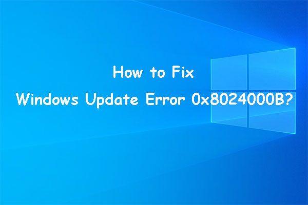Cómo solucionarlo: Error de actualización de Windows 0x8024000B [MiniTool News]
