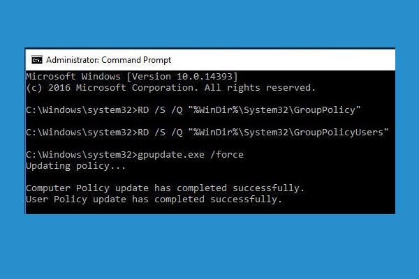 2 tapaa palauttaa kaikki ryhmäkäytäntöasetukset oletusarvoisiin Windows 10: een [MiniTool News]