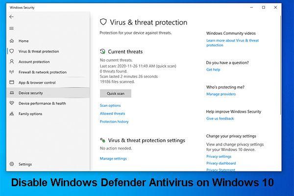 [Solução] Como desativar o antivírus do Windows Defender no Win 10 [MiniTool News]
