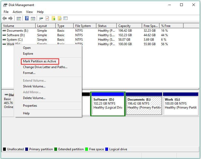 A partíció megjelölése aktívként vagy inaktívként a Windows rendszerben [MiniTool Wiki]