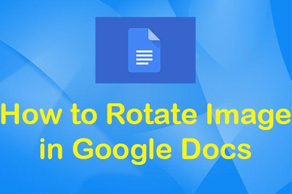 حل - گوگل دستاویزات میں تصویری گردش کیسے کریں