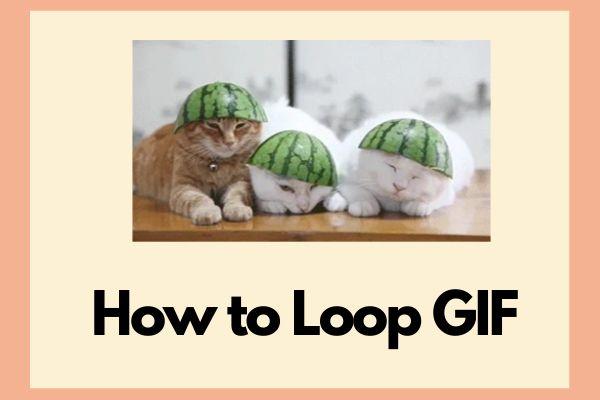 Kuidas GIF-i pidevalt loopida või peatada GIF-i loopimine