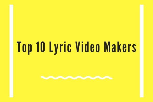 آپ کو معلوم ہونا چاہئے کہ سر فہرست 10 گیتوں کے ویڈیو سازوں