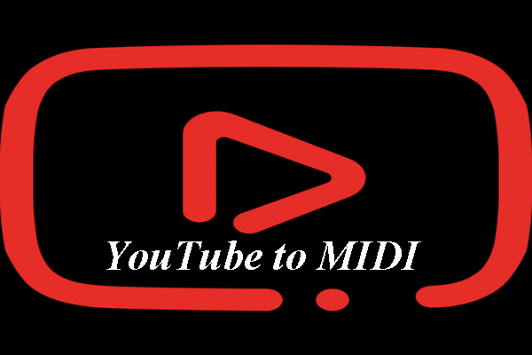 Convierta YouTube a MIDI - 2 pasos simples