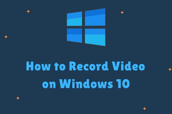 Video salvestamine Windows 10-s - lahendatud