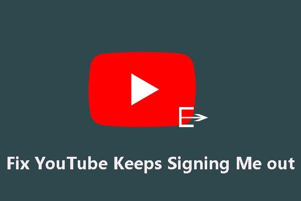 YouTube hoiab mind välja logimas: kuidas seda parandada?