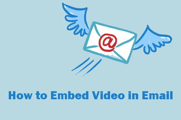 2 načina za ugrađivanje videozapisa u e-poštu: Gmail i Outlook