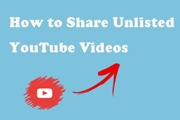 غیر مندرج یوٹیوب ویڈیوز نجی طور پر کیسے بانٹیں