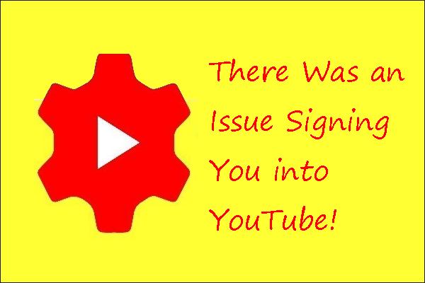 Javítások voltak egy problémára, amikor bejelentkeztünk a YouTube-ra a PC 2020-on