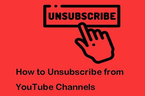 Kuidas tõhusalt YouTube'i kanalite tellimusest loobuda