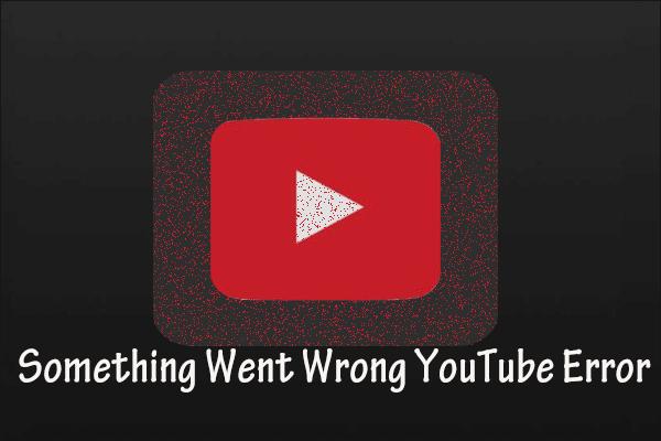 Midagi läks valesti YouTube'i viga - parandage nende meetoditega!