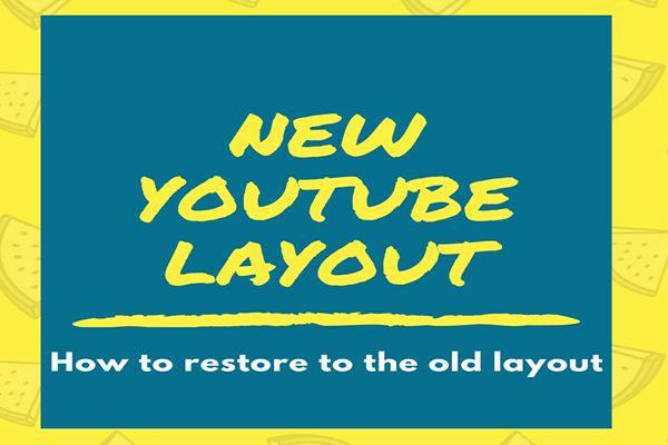 Como desativar o novo layout do YouTube